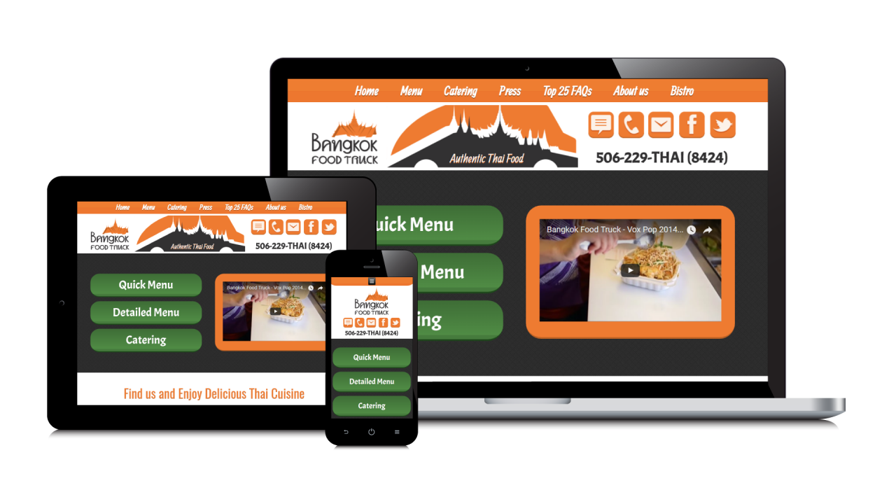 Bangkok Food Truck's New Website Screenshot