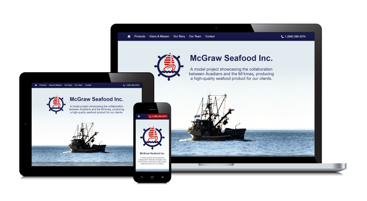 McGraw Seafood's New Website Screenshot