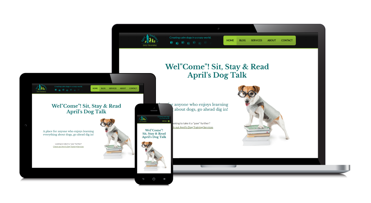 April Saulnier's Dog Training New Website