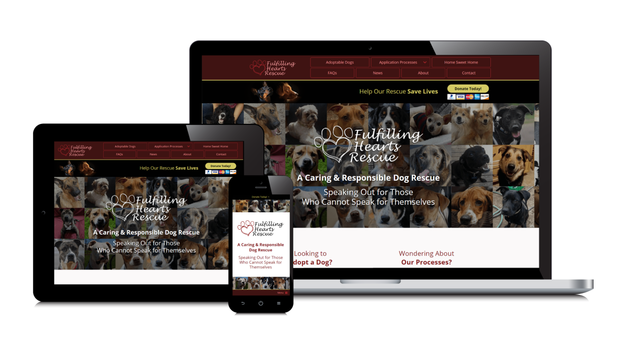 Fulfilling Hearts Rescue New Website